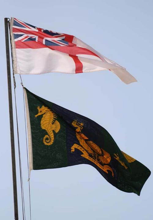 The White Ensign and the CLR flag as the principal unit of Camp Bastion