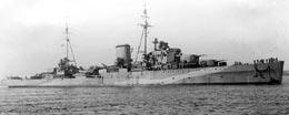Light cruiser HMS Ajax