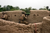 A Royal Marine from 42 Commando Group taking part in Op AABI TOORAH