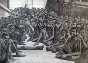 Slaves on board the American slave ship Wildfire