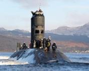 HMS Talent leaves Faslane