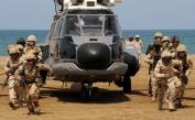 Saudi Navy BlackHawk inserts Royal and Saudi Marines ashore