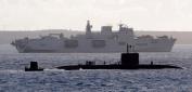 HMS Ocean watches over HMS Talent