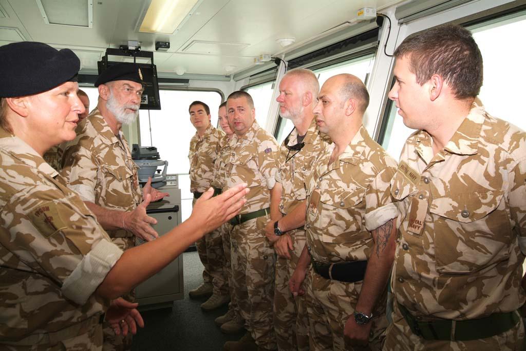 HRH Prince Michael visits RFA Cardigan Bay