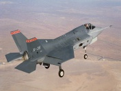Lockheed Martin X-35 (Future Joint Combat Aircraft) with wheels down ready to land
