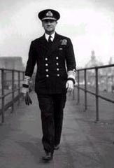 Admiral Ramsey at Norfolk House in London shortly before D-Day, May 1944. Photograph courtesy of the Imperial War Museum, London