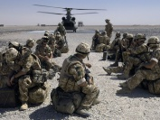 J Company 42 Commando Royal Marines Royal Marines of J Company await the move by CH 47 from Camp Bastion to the Forward Operating Base in Gereshk