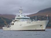 HMS Echo at anchor in Loch Scridain, Isle of Mull