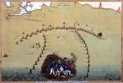 Plan of the fleets at the Battle of Trafalgar (Royal Naval Museum)