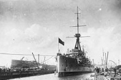 Battleship HMS Dreadnought which fought at the Battle of Jutland (Royal Naval Museum)