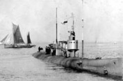 HMS submarine K6, one of the fast submarines built to accompany the Grand Fleet