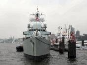 HMS Liverpool alongside at Uberseebrucke, Hamburg, Sep 06.