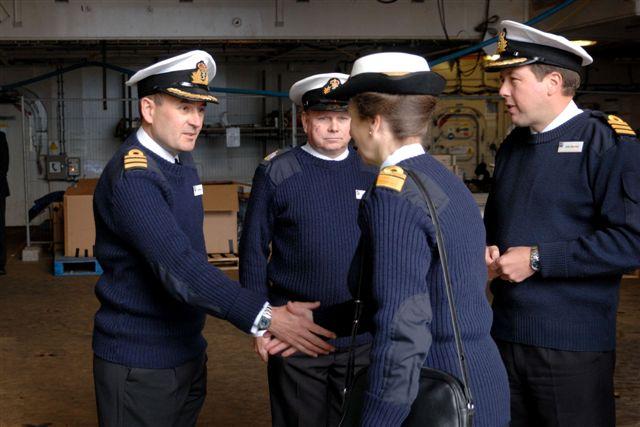 Princess Royal  Visits HMS Albion