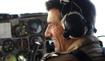 Pilot in cockpit. Photograph: Sgt Mobs, RAF.