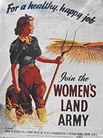 Women's Land Army campaign poster