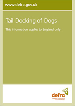 Tail Docking of Dogs (85kb - pdf)