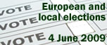 European and local elections on 4 June 2009