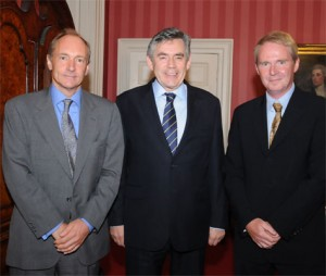 The PM meets Sir Tim Berners-Lee and Professor Nigel Shadbolt; Crown copyright