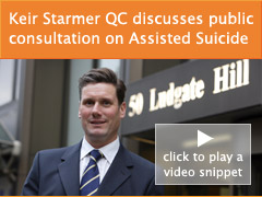 Video interview with CPS DPP Keir Starmer QC about the public consultation on the interim guidance on assisted suicide