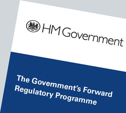 Cover of The Government's Forward Regulatory Programme