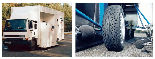 The TRITON CPX measurement vehicle and tyre / microphone position