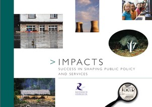 Impacts publication cover image