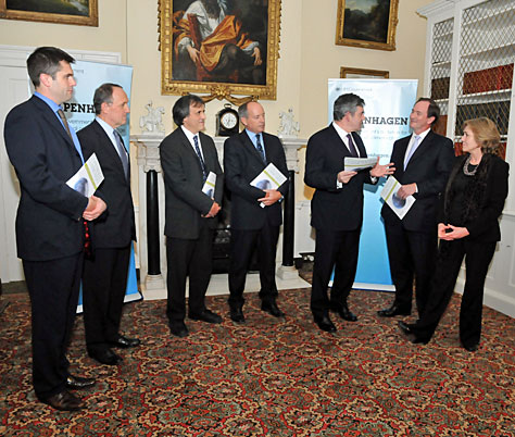 The PM with the Prince of Wales's Corporate Leaders Group; Crown copyright