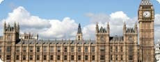 Photo of the Houses of Parliament showing Big Ben
