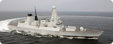Military ship (MoD/Crown Copyright from www.defenceimages.mod.uk).
