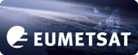 EUMETSAT logo. The word EUMETSAT superimposed over na image of the earth from space.