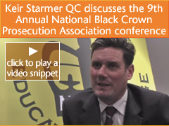Video interview with CPS DPP Keir Starmer QC explaining why it was important for him to attend the National Black Crown Prosecutors Association conference