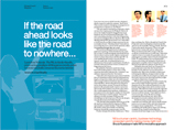 Magazine spread of 'The new rules of gaming' article