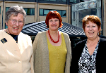 Commissioners Audrey Emerton, Jane Salvage and Sue Bernhauser at the University of Huddersfield