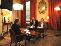 Tony Blair is interviewed by Will Hutton and Anne McElvoy in the White Room of 10 Downing Street. 16 November 2006