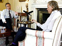 Bob Geldof and Tony Blair discuss Africa for a Downing Street podcast, May 2007