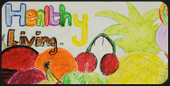 number 10 art competition - keeping healthy