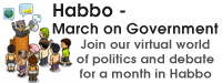 Habbo - March on Government. Join our virtual world of politics and debate for a month in Habbo
