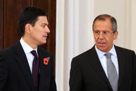 David Miliband and Sergei Lavrov on 2 November. Getty Images
