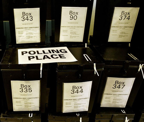 Ballot box; PA copyright