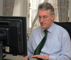 Hilary Benn takes part in a webchat on 3 March 2010; Crown copyright
