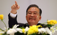 Chinese Prime Minister Wen Jiabao gestures during a press conference held on the sidelines of the fourth Forum on China-Africa Cooperation in the Egyptian Red Sea resort of Sharm el-Sheikh on November 8, 2009. (CRIS BOURONCLE/AFP/Getty Images)