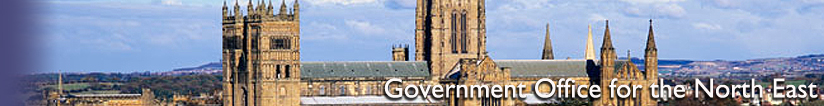 Banner for the Government Office for the North East - Durham Cathedral