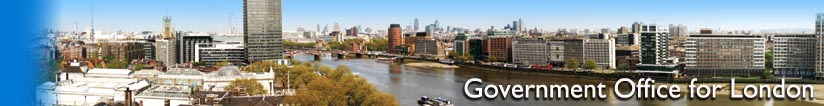 Panoramic view of London from Riverwalk House