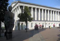 Anthony Gormley's Iron Man & Birmingham Town Hall
