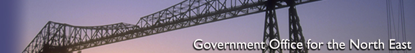 Banner for the Government Office for the North East - Middlesbrough Transporter Bridge