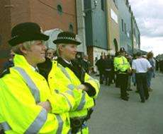Police at a sporting event