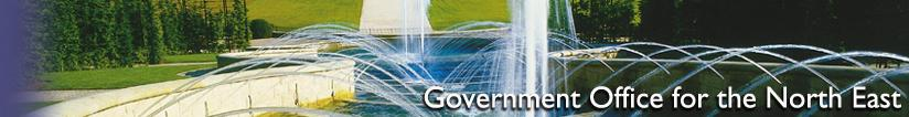 Banner for the Government Office for the North East - Alnwick Garden Cascades