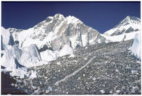 A line in the Himalayas, Richard Long