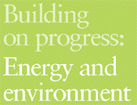 Cover of the Building on progress: Energy and Environment - link to full document