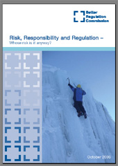 """Risk, Responsibility, Regulation: Whose Risk Is It Anyway?"" report cover"
